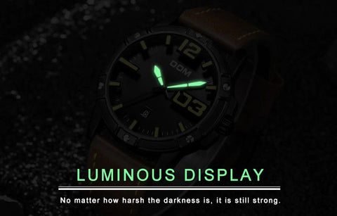 DOMINANT quartz watch - luminous hands