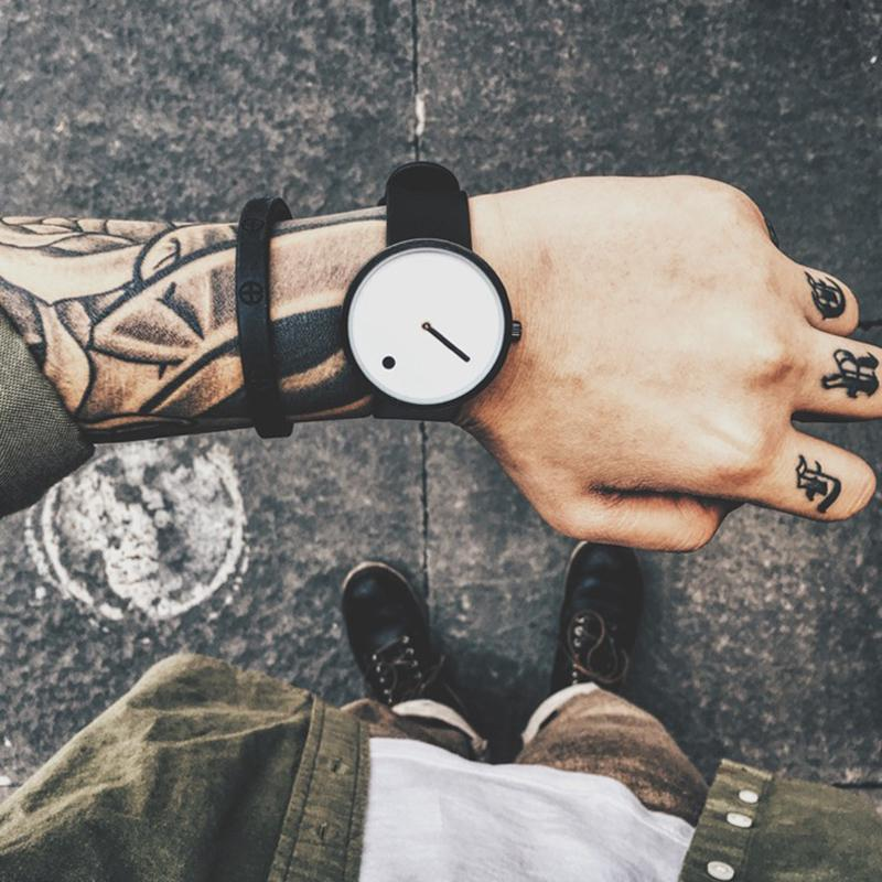 CHASE minimal quartz watch - on hand with tattoos