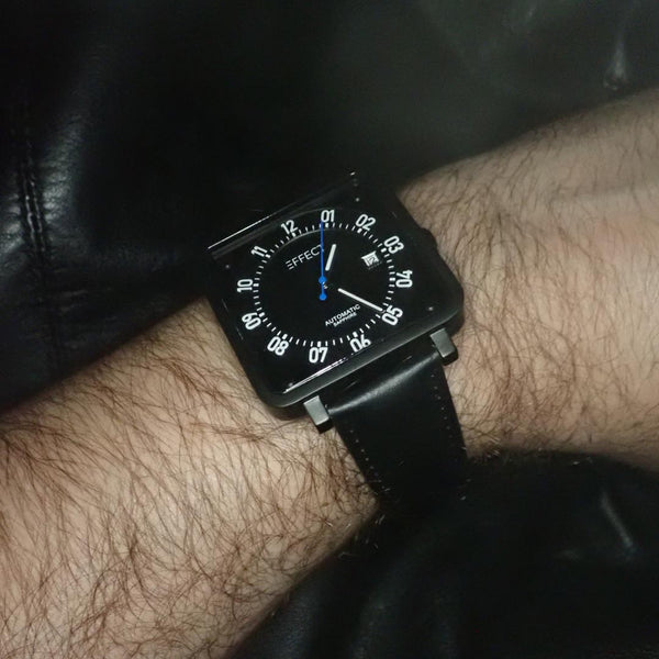 NOIR I from EFFECT watches - worn on hand