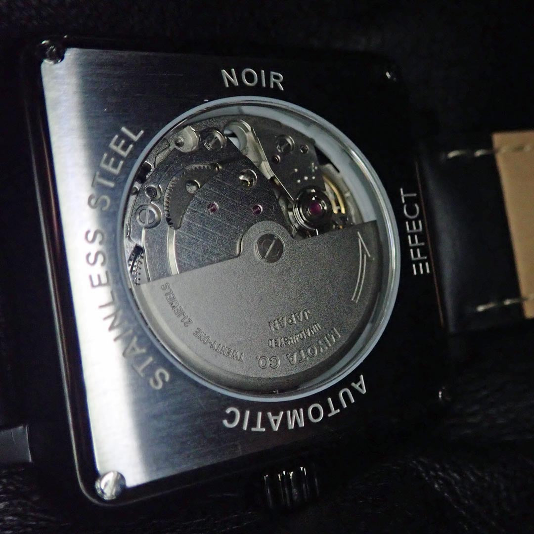 NOIR I from EFFECT watches - automatic japan movement