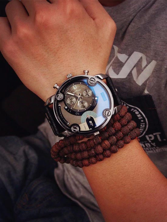 only the brave watch - on hand with bead bracelet