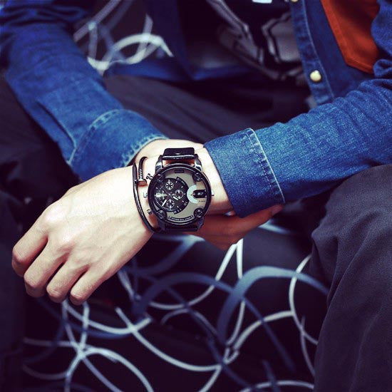 only the brave watch - worn with jean shirt