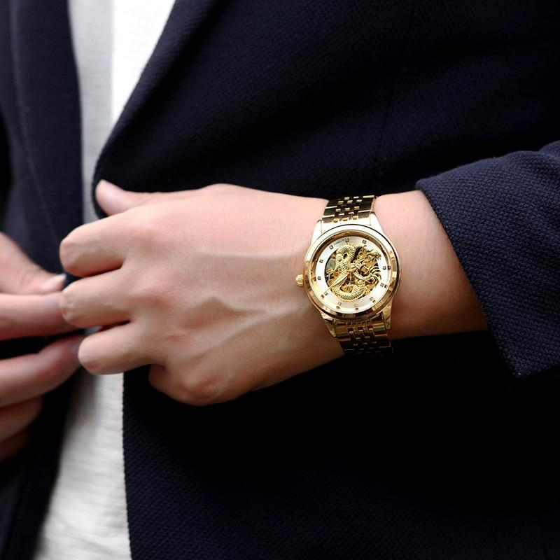 DRAGON watch - worn on model with suit jacket