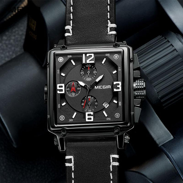 HULL chronograph watch - black