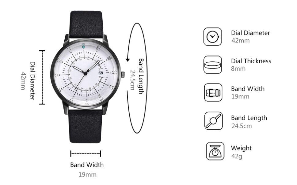 RADIAL quartz watch - specifications