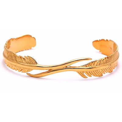 FEATHER Deluxe bracelet - gold
