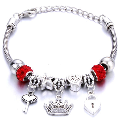 Antique Original Crown and key lock Shape Bracelets