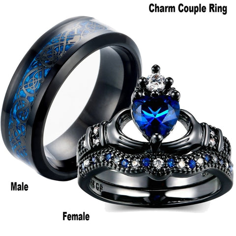 Charm Couple Ring - Valentine's Day Special
