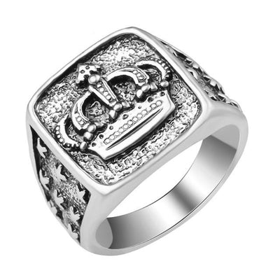 Hip Hop Star Cross Crown Ring