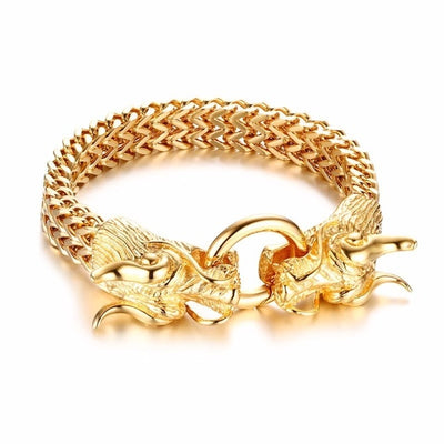 Metallic Dragon Head Bracelet