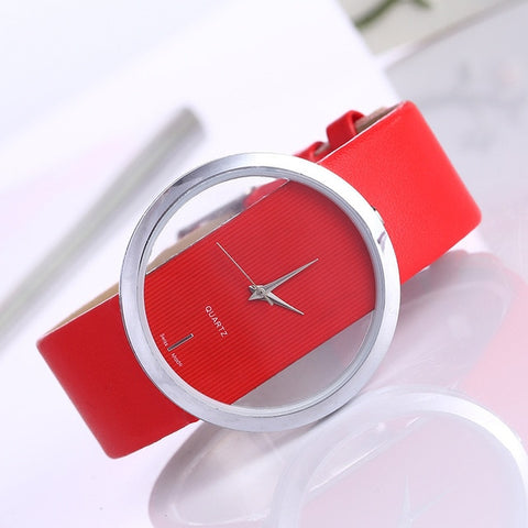 Transparent Quartz WristWatch