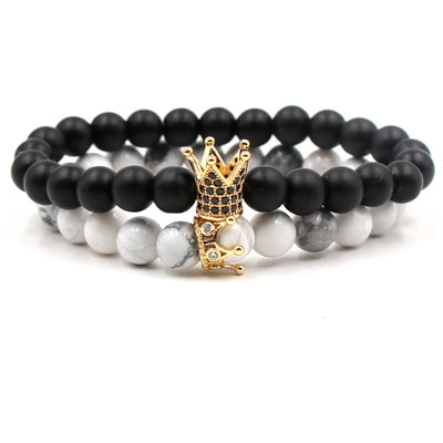 KING & QUEEN Classic Distance Bracelets