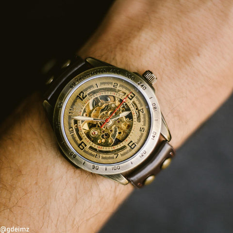 STEAMPUNK watch on wrist