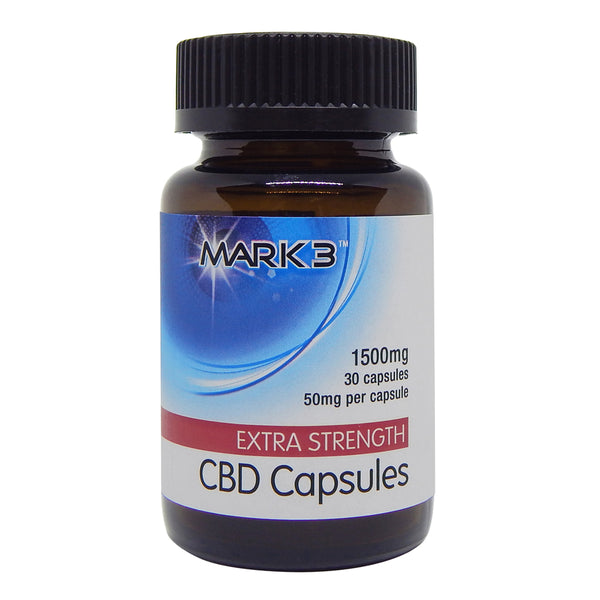 MARK3 Full Spectrum CBD Capsules 1500mg 30/bottle (50mg per Capsule)