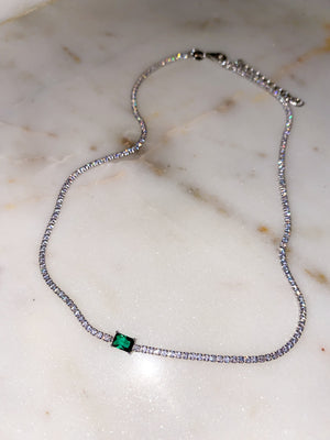 Envy Emerald Choker Necklace