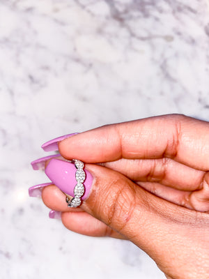 Pave Crystal Clouds Ring