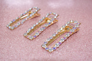 Crystal Rectangle Clips