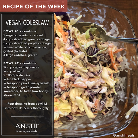 ANSHI Recipe of the Week - Vegan Coleslaw