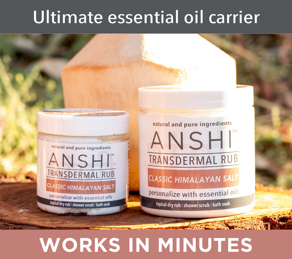 ANSHI Classic Himalayan Salt | Body Scrub Essential Oil Carrier