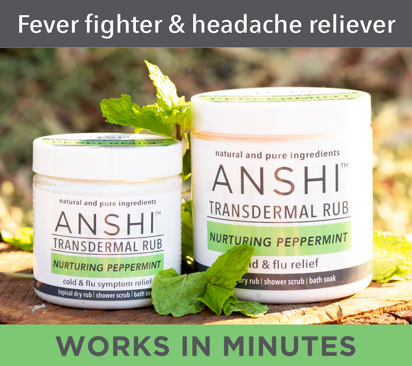 ANSHI Peppermint | Transdermal Rub for Cold & Flu Symptoms