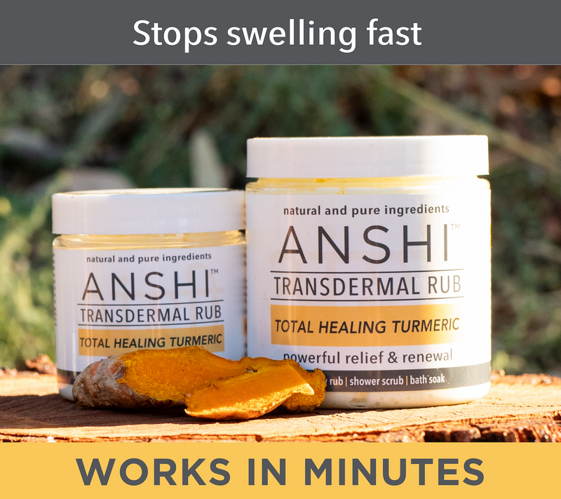 ANSHI Turmeric | Topical Dry Rub | Shower Scrub | Bath Soak