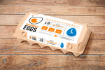 WELDHAGEN EGGS - 18'S PRE-PACK (LARGE) FREE RANGE
