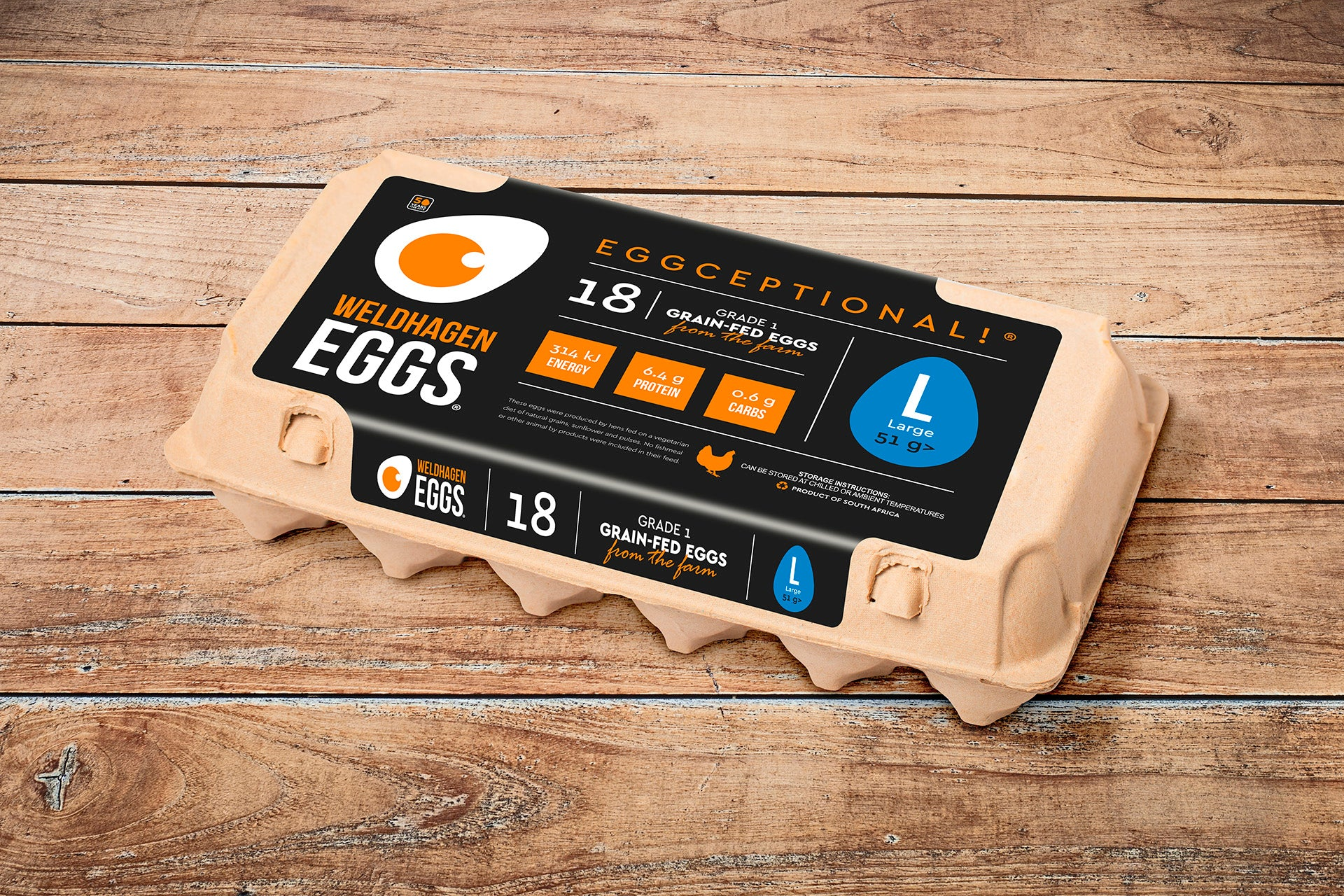 WELDHAGEN EGGS - 18'S PRE-PACK (LARGE)