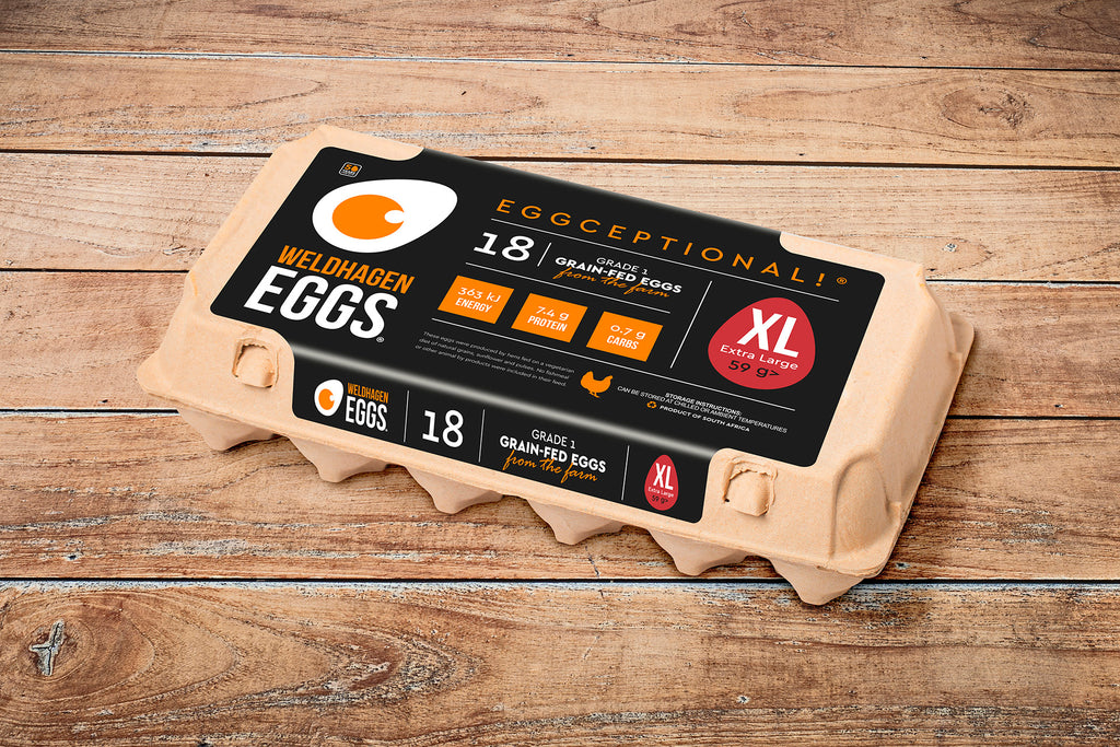 WELDHAGEN EGGS - 18'S PRE-PACK (X-LARGE)