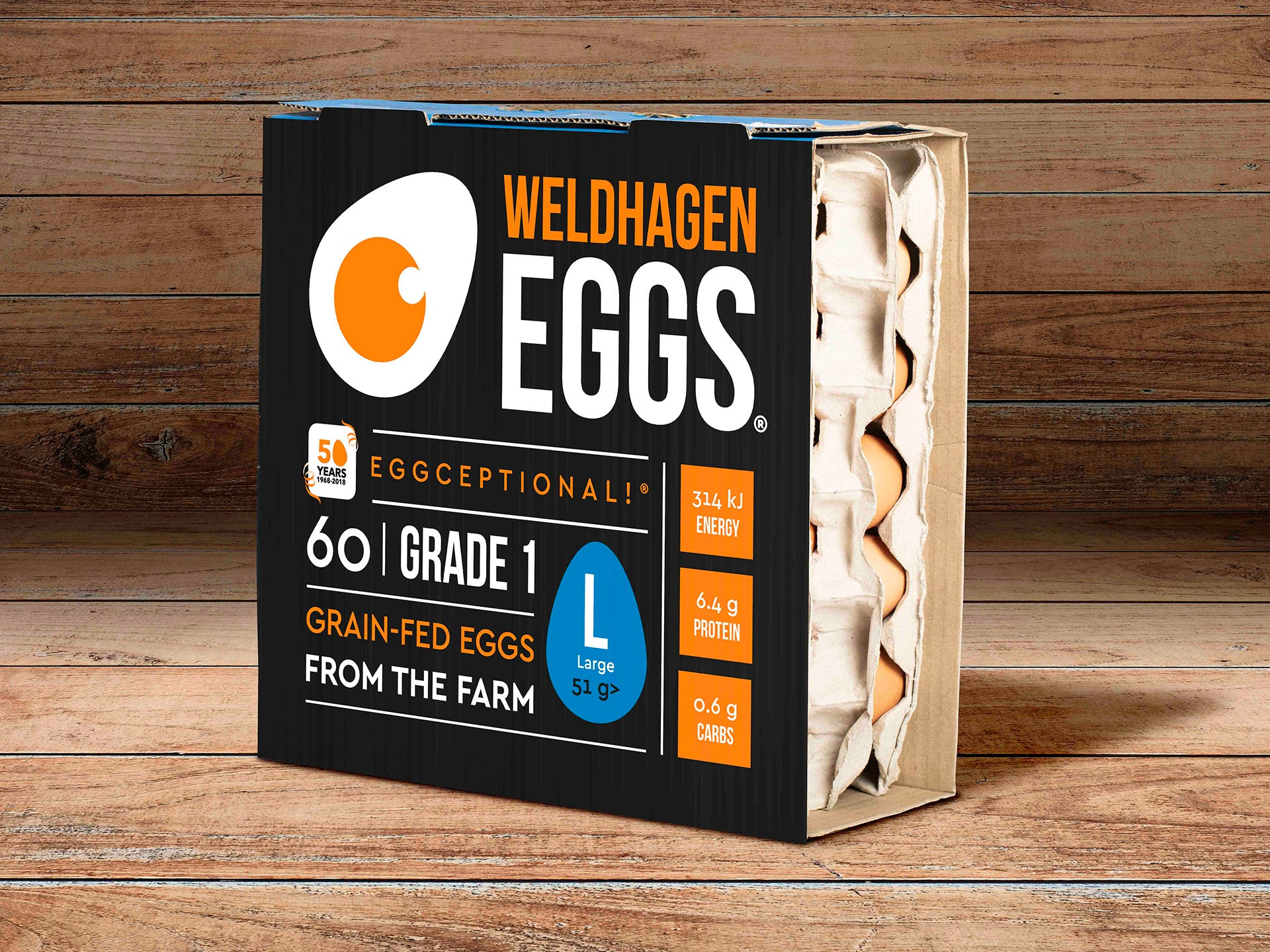 WELDHAGEN EGGS - 60'S (LARGE)