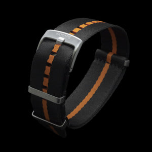 Black/Orange seatbelt Nato strap