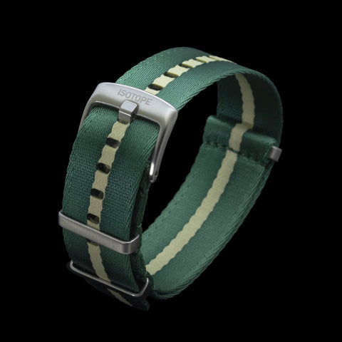 Green/Cream seatbelt Nato strap