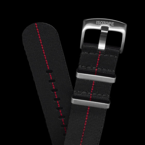 Black/Red seatbelt Nato strap