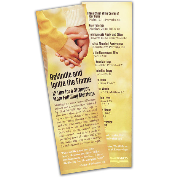 12 Marriage Tips Bookmark (25/Pack) by Amazing Facts
