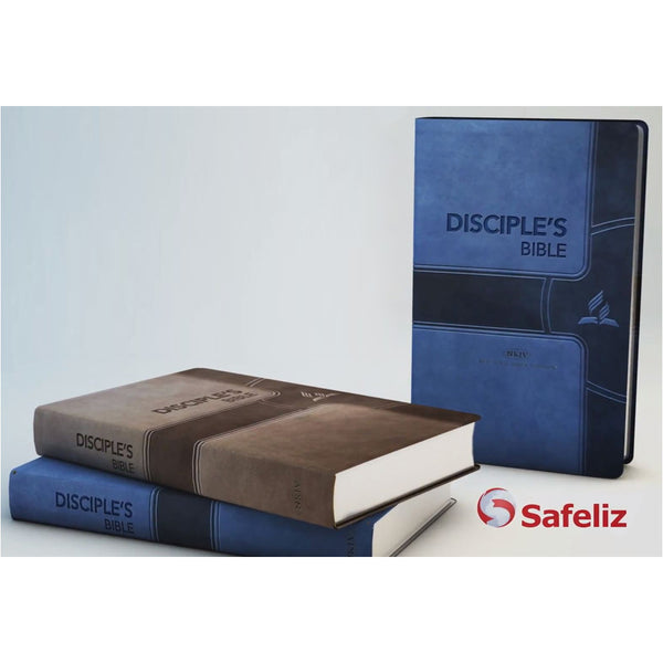 NKJV Disciple's Chain Reference Bible (Navy Leathersoft) by Safeliz