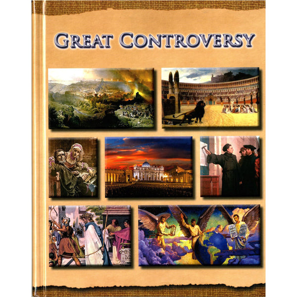 Illustrated Great Controversy Large Print (Hardcover) by Harvestime Books