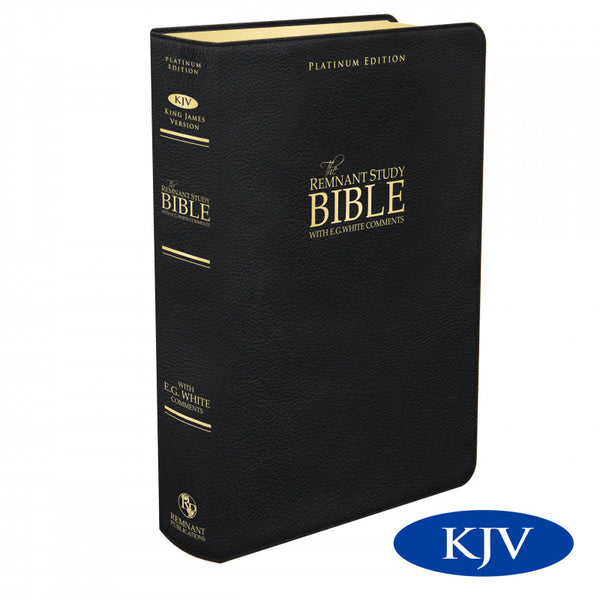 KJV Platinum Remnant Study Bible (Black Leather)