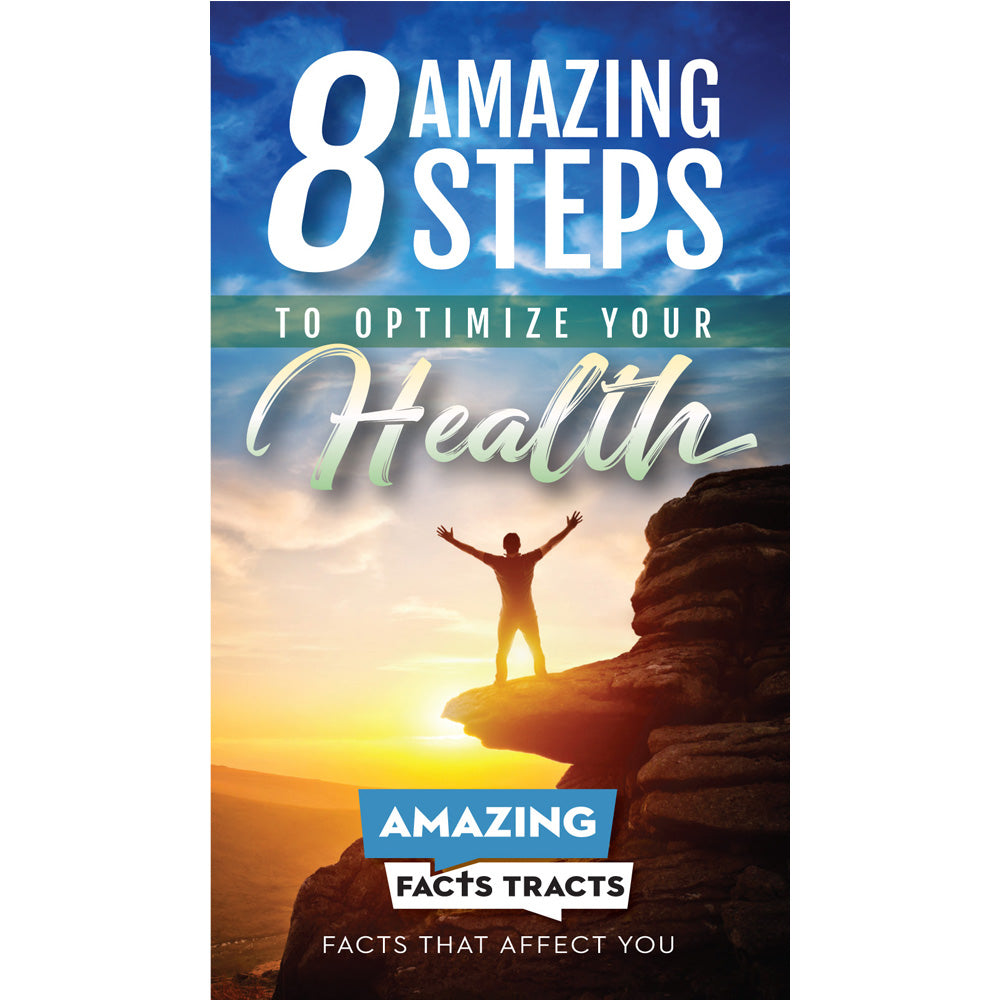 AFacts Tracts (100/pack): 8 Amazing Steps to Optimize Your Health by Amazing Facts