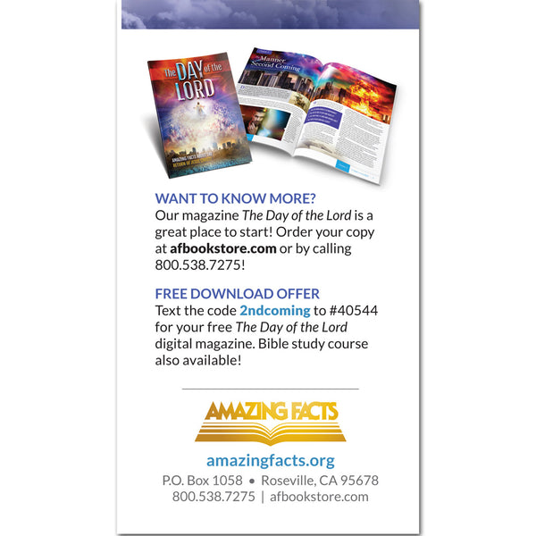 AFacts Tracts (100/pack): The Day of the Lord: The Best News Ever! by Amazing Facts