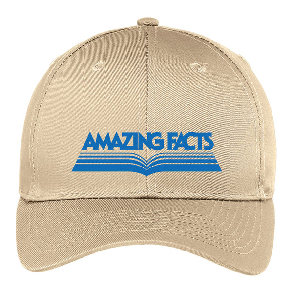 Amazing Facts Hat (Beige with Blue Logo) by Amazing Facts