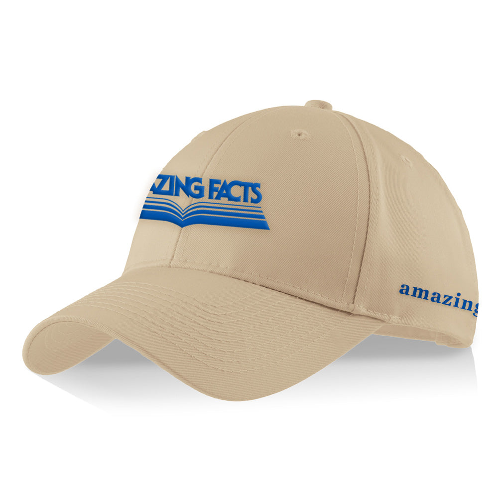Amazing Facts Cap (Beige with Blue Logo) by Amazing Facts