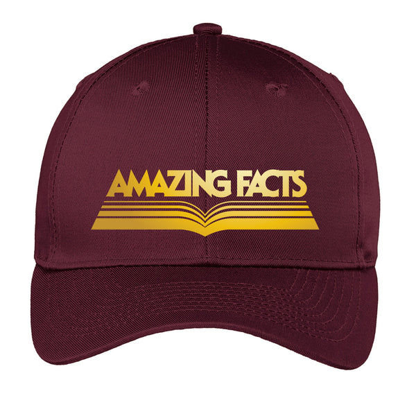 Amazing Facts Hat (Maroon with Gold Logo) by Amazing Facts