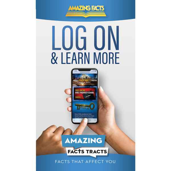 Afacts Tracts (100/pack): Log On and Learn More by Amazing Facts