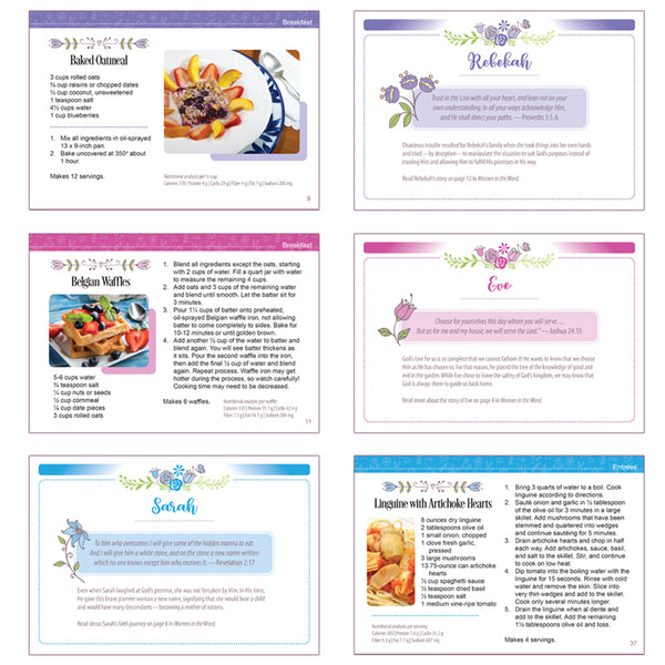 Recipe & Scripture Cards for Faith Box Women by Amazing Facts