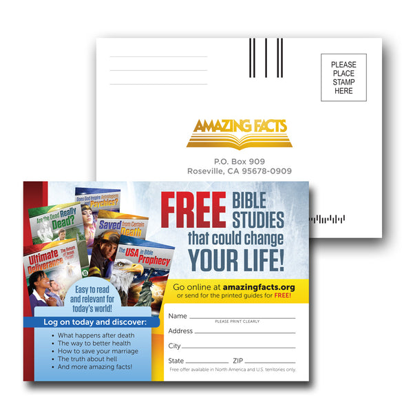Bible School Enrollment Card Handout Version (50/pad) by Amazing Facts