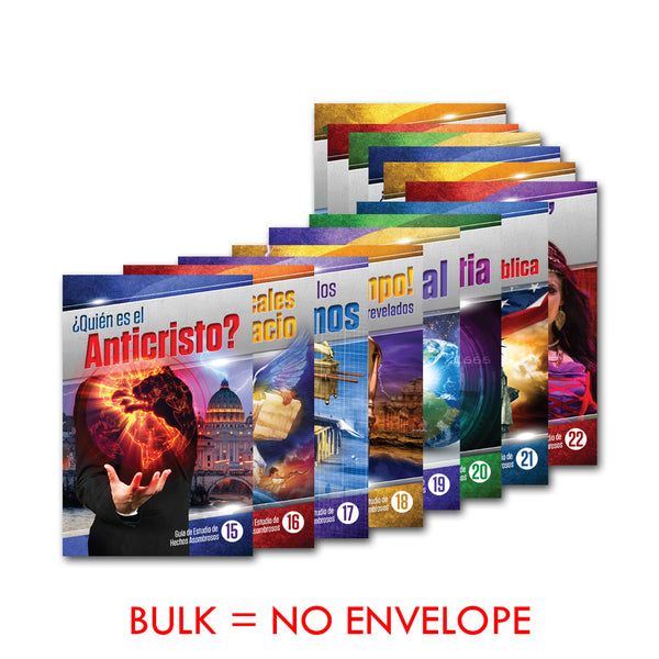 (Spanish) Amazing Facts Study Guides Advanced Set (15-27) in Bulk by Bill May