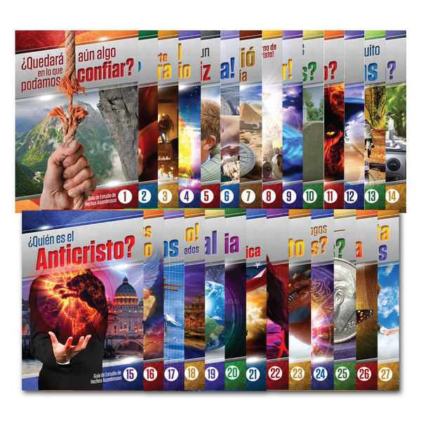 (Spanish) Amazing Facts Study Guides Complete Set (1-27) by Bill May
