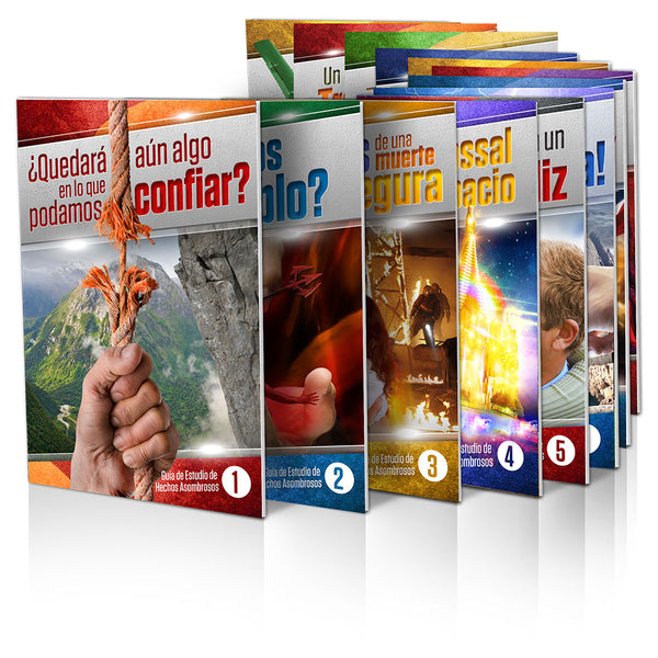 (Spanish) Amazing Facts Study Guides Introductory Set (1-14) by Bill May