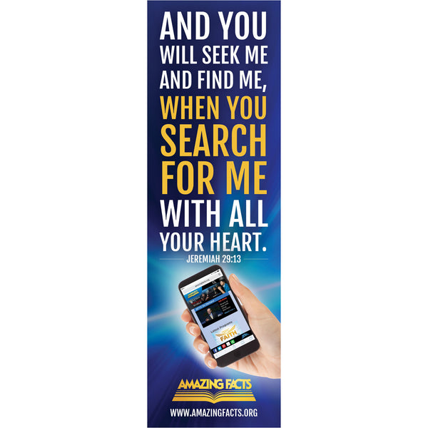 Amazing Facts Website Bookmark(25/pack) by Amazing Facts