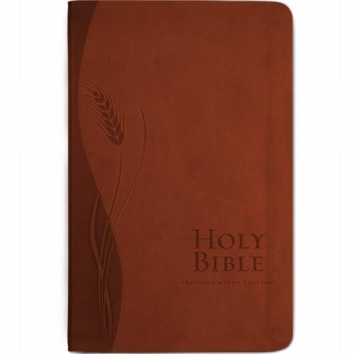 NKJV Prophecy Study Bible (Brown Leathersoft) by Amazing Facts