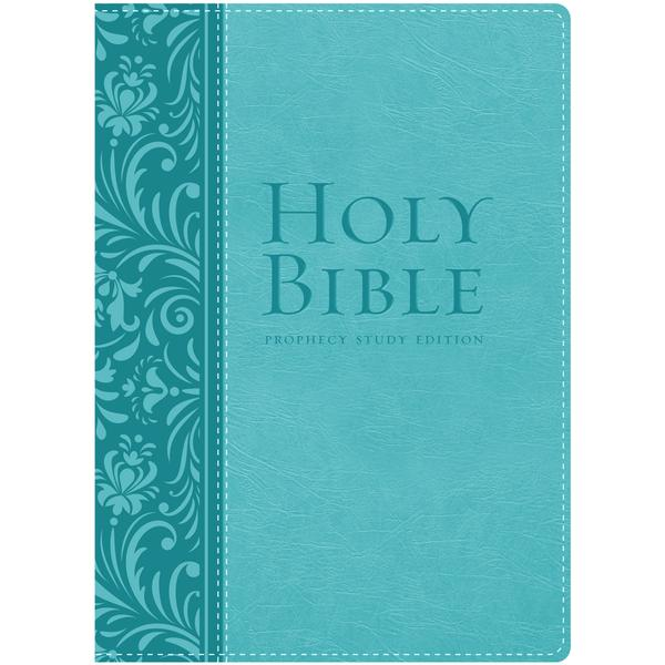 NKJV Prophecy Study Bible (Teal Leathersoft) by Amazing Facts